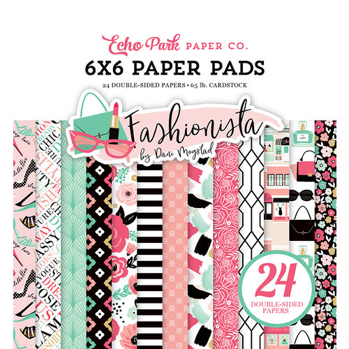 Echo Park - Fashionista Collection - 6 x 6 Paper Pad