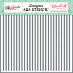 Echo Park - Fashionista Collection - 6 x 6 Stencil - Glamour Stripe