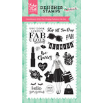 Echo Park - Fashionista Collection - Clear Acrylic Stamps - Simply Fabulous