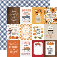 Echo Park - Fall Collection - 12 x 12 Double Sided Paper - 4 x 3 Journaling Cards