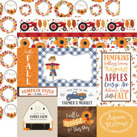 Echo Park - Fall Collection - 12 x 12 Double Sided Paper - Journaling Cards
