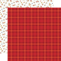 Echo Park - Fall Collection - 12 x 12 Double Sided Paper - Patch Plaid