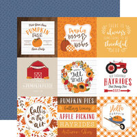Echo Park - Fall Collection - 12 x 12 Double Sided Paper - 4 x 4 Journaling Cards
