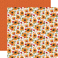Echo Park - Fall Collection - 12 x 12 Double Sided Paper - Family Farm Floral