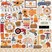 Echo Park - Fall Collection - 12 x 12 Cardstock Stickers - Elements