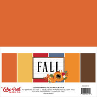 Echo Park - Fall Collection - 12 x 12 Paper Pack - Solids
