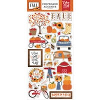 Echo Park - Fall Collection - Chipboard Embellishments - Accents