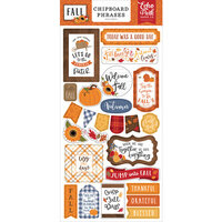 Echo Park - Fall Collection - Chipboard Embellishments - Phrases