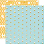 Echo Park - Fine and Dandy Collection - 12 x 12 Double Sided Paper - Busy Bees