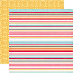 Echo Park - Fine and Dandy Collection - 12 x 12 Double Sided Paper - Dandy Stripes