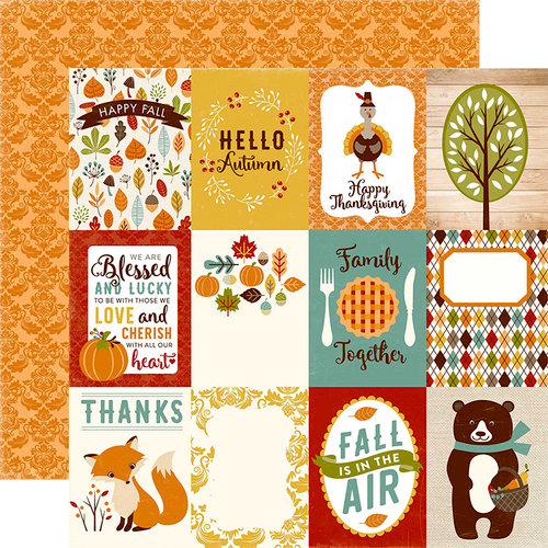 Echo Park - Fall is in the Air Collection - 12 x 12 Double Sided Paper - 3 x 4 Journaling Cards