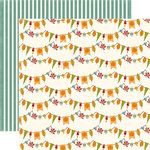 Echo Park - Fall is in the Air Collection - 12 x 12 Double Sided Paper - Autumn Bunting