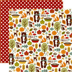 Echo Park - Fall is in the Air Collection - 12 x 12 Double Sided Paper - Fall Friends