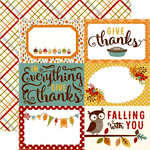 Echo Park - Fall is in the Air Collection - 12 x 12 Double Sided Paper - 4 x 6 Journaling Cards