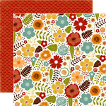 Echo Park - Fall is in the Air Collection - 12 x 12 Double Sided Paper - Fall Floral