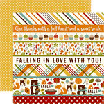 Echo Park - Fall is in the Air Collection - 12 x 12 Double Sided Paper - Border Strips