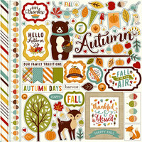 Echo Park - Fall is in the Air Collection - 12 x 12 Cardstock Stickers - Elements