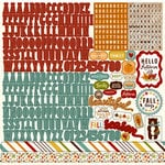 Echo Park - Fall is in the Air Collection - 12 x 12 Cardstock Stickers - Alphabet