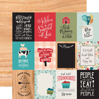 Echo Park - Farmhouse Kitchen Collection - 12 x 12 Double Sided Paper - 3 x 4 Journaling Cards