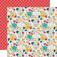 Echo Park - Farmhouse Kitchen Collection - 12 x 12 Double Sided Paper - Farmhouse Floral