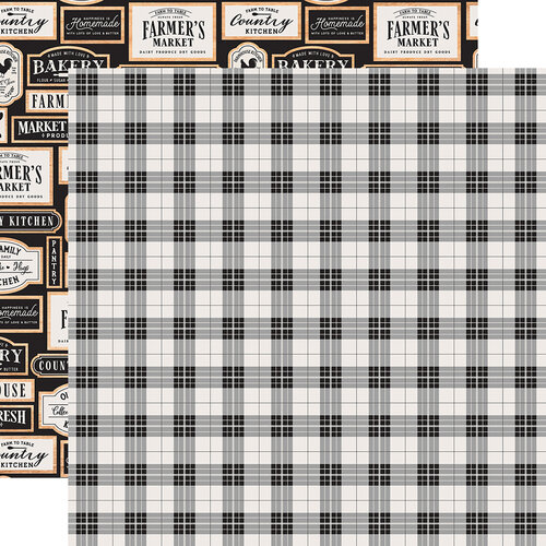 Echo Park - Farmhouse Kitchen Collection - 12 x 12 Double Sided Paper - Picnic Plaid