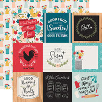 Echo Park - Farmhouse Kitchen Collection - 12 x 12 Double Sided Paper - 4 x 4 Journaling Cards