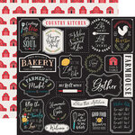 Echo Park - Farmhouse Kitchen Collection - 12 x 12 Double Sided Paper - Kitchen Rules