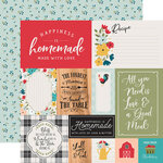 Echo Park - Farmhouse Kitchen Collection - 12 x 12 Double Sided Paper - Multi Journaling Cards