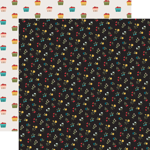 Echo Park - Farmhouse Kitchen Collection - 12 x 12 Double Sided Paper - Field of Flowers