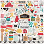 Echo Park - Farmhouse Kitchen Collection - 12 x 12 Cardstock Stickers - Elements