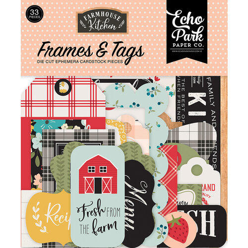 Echo Park - Farmhouse Kitchen Collection - Ephemera - Frames and Tags