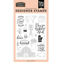 Echo Park - Farmhouse Kitchen Collection - Clear Photopolymer Stamps - Heart of the Home