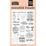 Echo Park - Farmhouse Kitchen Collection - Clear Photopolymer Stamps - Made With Love