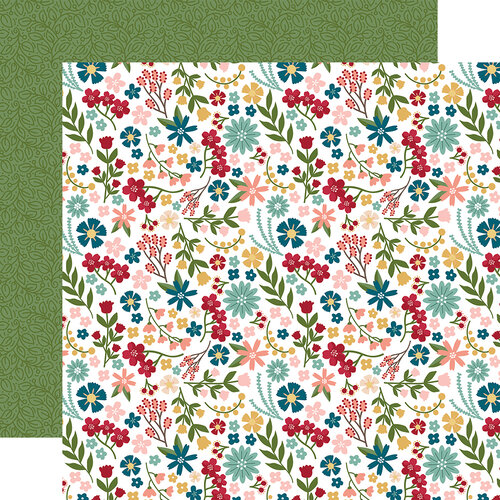 Echo Park - Farmer's Market Collection - 12 x 12 Double Sided Paper - Farmer Floral