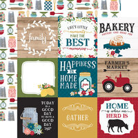 Echo Park - Farmer's Market Collection - 12 x 12 Double Sided Paper - 4 x 4 Journaling Cards