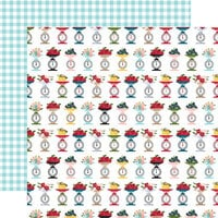 Echo Park - Farmer's Market Collection - 12 x 12 Double Sided Paper - Produce Scale