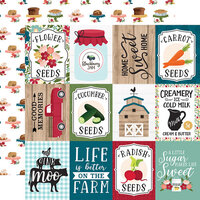 Echo Park - Farmer's Market Collection - 12 x 12 Double Sided Paper - 3 x 4 Journaling Cards