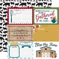 Echo Park - Farmer's Market Collection - 12 x 12 Double Sided Paper - 4 x 6 Journaling Cards