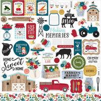 Echo Park - Farmer's Market Collection - 12 x 12 Sticker Elements