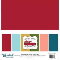 Echo Park - Farmer's Market Collection - 12  x 12 Paper Pack - Solids