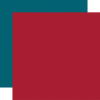 Echo Park - Farmer's Market Collection - 12 x 12 Double Sided Paper - Red and Blue