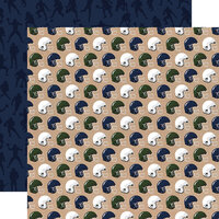 Echo Park - Football Collection - 12 x 12 Double Sided Paper - Helmets
