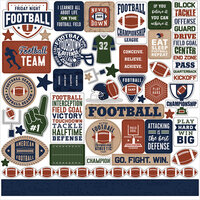 Echo Park - Football Collection - 12 x 12 Cardstock Stickers - Elements