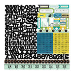 Echo Park - For the Record 2 Collection - Documented - 12 x 12 Cardstock Stickers - Alphabet