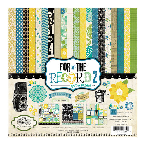 Echo Park - For the Record 2 Collection - Documented - 12 x 12 Collection Kit