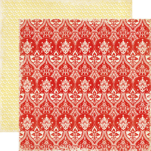Echo Park - For the Record 2 Collection - Tailored - 12 x 12 Double Sided Paper - Red Lace