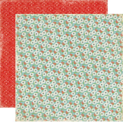 Echo Park - For the Record 2 Collection - Tailored - 12 x 12 Double Sided Paper - Lazy Daisy