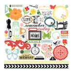 Echo Park - For the Record 2 Collection - Tailored - 12 x 12 Cardstock Stickers - Elements