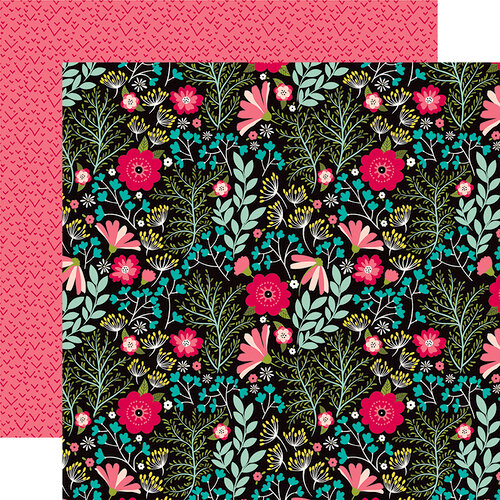 Echo Park - Forward With Faith Collection - 12 x 12 Double Sided Paper - Floral Faith