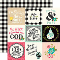 Echo Park - Forward With Faith Collection - 12 x 12 Double Sided Paper - 4 x 4 Journaling Cards